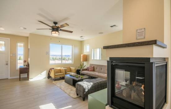 Living room and fireplace in Veraison