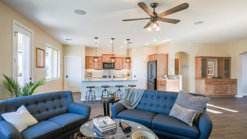 Scion living room and kitchen